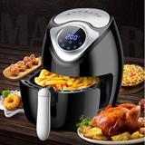 BIGTREE 3.5 Liter Air Fryer Plastic in Black/Gray, Size 14.5 H x 11.5 W x 11.0 D in | Wayfair BT-AIR-FRYER-TCH-C4-3L-BLK