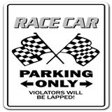 SignMission Race Car Sign Racing Drag Strip Midget Auto Nascar Driver Track Plastic in Black, Size 10.0 H x 14.0 W x 0.1 D in   Wayfair