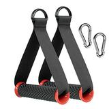 2pcs Heavy Duty Band Handles with Strong Carabiners,Upgraded Resistance Band Handle,Replacement Fitness Equipment for Pilates,Yoga,Strength Trainer (Red)