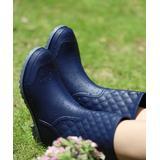 Heli Women's Rain boots Navy - Navy Quilted Rain Boot - Women