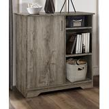 Pilaster Designs Cabinets Oak - Oak Dozer Single-Door Three-Shelf Cabinet