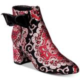 Kate Spade Shoes | Kate Spade Holly Boots Jacquard $450 | Color: Black/Red | Size: 5