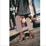 Free People Shoes | Free People Snake Marietta Heel Boot 6.5 | Color: Black/Brown | Size: 6.5