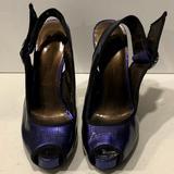 Jessica Simpson Shoes   Jessica Simpson Peep Toe High Heels   Color: Black/Purple   Size: 8