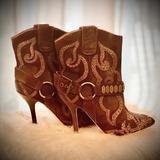 Nine West Shoes | Cowboy Boots High Heel Nine West Vintage America | Color: Brown | Size: 7
