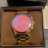 Michael Kors Accessories | Michael Kors Womens Runway Watch | Color: Gold | Size: Os