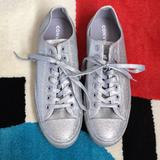 Converse Shoes | Converse All Stars Glitter Lace Up Shoes | Color: Silver | Size: Mens 9 Womens 11