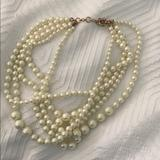 J. Crew Jewelry   J.Crew Multi Strand Pearl Necklace   Color: Cream/Gold   Size: Os