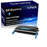 1-Pack (Cyan) Compatible Laser Toner Cartridge High Yield Replacement for HP 641A | C9721A | Laser Printer Toner Cartridge use for HP Color Laserjet 4600dtn 4600 4650 4650dn 4650dtn Printer
