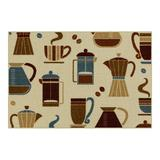 Maples Java Washable Kitchen & Throw Rug, Brown, 2X5 Ft