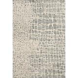 "Loloi Masai Area Rug, 18"" x 18"" Sample, Silver Grey/Ivory"