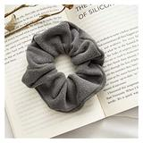 Hair Ropes Hair Ponytail Hair Accessories Elastic Hair band Rubber Bands (Color : Grey)