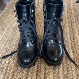 Zara Shoes | Combat Boots-3 Heel | Color: Black | Size: 37