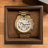 Michael Kors Jewelry | Michael Kors Chronograph Watch | Color: Gold | Size: Os