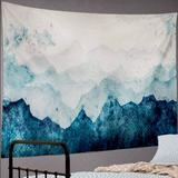 Urban Outfitters Wall Decor | Mountain Range Nature Outdoors Tapestrywall Decor | Color: Blue/White | Size: Os