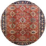 Charlton Home® Avak Oriental Orange/Blue/Brown Area Rug in Blue/Brown/Orange, Size 48.0 H x 48.0 W x 0.35 D in   Wayfair