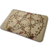 DIDIDI Fall Autumn Leave Leaf Wicca Wiccan PaganThrow Area Ground Mat Accent Floor Party Outside Set Restroom Kitchen Bathroom Door Welcome Decor Entryway Rug Sign Celebrate Decorations Ornament