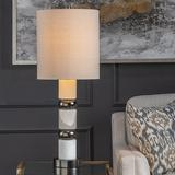 Crestview Collection Sinclair Stacked Alabaster Table Lamp