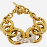Michael Kors Jewelry   Gold Chunky Tone Crystal Chain Bracelet   Color: Gold   Size: Os
