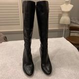 Michael Kors Shoes   Mk Black Leather Stiletto Knee High Boots   Color: Black   Size: 7.5
