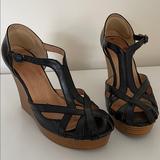 Nine West Shoes   Nine West Wedge Sandal 7.5   Color: Black/Tan   Size: 7.5