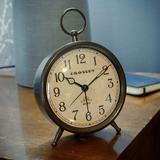 Crosley Analog Metal Quartz Alarm Tabletop Clock in Antique Bronze Metal in Brown, Size 6.0 H x 4.4 W x 2.2 D in | Wayfair CR33301B