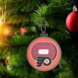 YouTheFan NHL Detroit Red Wings Holiday Shaped Ornament Wood in Black/Brown/Red, Size 3.0 H x 3.0 W x 0.4025 D in | Wayfair 810008498156