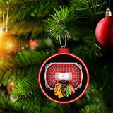 YouTheFan NHL Detroit Red Wings Holiday Shaped Ornament Wood in Black/Brown/Red, Size 3.0 H x 3.0 W x 0.4025 D in | Wayfair 810008498132