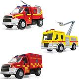 Corgi Chunkies Airport Fire Department Truck with Crane, Water Truck and Rescue Truck Triple Pack Toy Vehicles CHP07