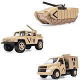 Corgi Chunkies Military Army Desert Sand Rocket Truck, Armored Tank and Radar Truck Triple Pack Toy Vehicles CHP05