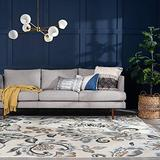 Stella Cream 8x10 Rectangle Area Rug for Living, Bedroom, or Dining Room - Traditional, Floral