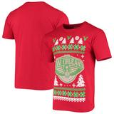 Men's Red New Orleans Pelicans Ugly Sweater T-Shirt