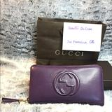 Gucci Bags | Authentic Gucci Soho Purple Leather Zippy Wallet | Color: Purple | Size: Long Wallet