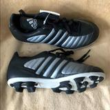 Adidas Shoes | Adidas Youth Soccer Cleats Sz 4 12 Blackslvr Nwt | Color: Black/Silver | Size: 4 12 Youth