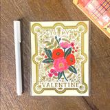 Anthropologie Office | 3$25 Rifle Paper Co. Valentines Day Card | Color: Gold/Pink | Size: Os