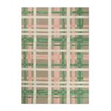 """Blossom Plaid Hooked Outdoor Rug & Mat - Taupe, 24"""" X 36"""" - Grandin Road"""