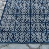 """Sydney Tile Outdoor Rug & Mat - 2'6"""" X 7'6"""" - Grandin Road"""
