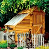 Cedarshed Sunhouse 8 ft. W x 8 ft. D Solid & Manufactured Wood Traditional Storage Shed in Brown/Gray, Size 105.0 H x 96.0 W x 96.0 D in   Wayfair