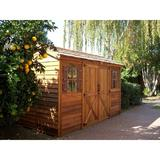 Cedarshed Longhouse 12 ft. W x 8 ft. D Solid & Manufactured Wood Storage Shed in Brown, Size 105.0 H x 144.0 W x 96.0 D in   Wayfair LH128