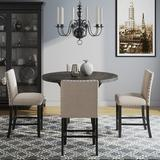 Lark Manor™ Haley 5 - Piece Counter Height Dining SetWood/Metal/Upholstered Chairs in Black/Brown/Gray | Wayfair FA9A8FDCA026405399085DBCE6B13C27