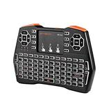 GTMEDIA 2.4G Mini Wireless Keyboard with Touchpad, USB Rechargeable Backlit QWERTY Keypad Remote Controller 92 Keys Gaming Mouse Combo for Laptop/Smart TV