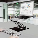 Auledio Adjustable Laptop Stand Metal in Black, Size 2.3 H x 9.44 W x 8.26 D in   Wayfair J-HO-AI-002-Z19-02#ZZLa2