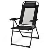 Arlmont & Co. Laredo Folding Recliner Patio Chair, Size 26.0 H x 25.5 W x 23.0 D in   Wayfair A73C617C4A1944FBAD354D27F81FDA27