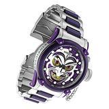 Invicta 34292 DC Comics 52mm Limited Ed Purple Joker Russian Diver Offshore Swiss Quartz Chronograph Watch