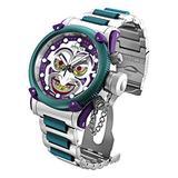 Invicta 34293 DC Comics 52mm Limited Ed Green Joker Russian Diver Offshore Swiss Quartz Chronograph Watch