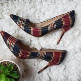J. Crew Shoes | J. Crew Womens Sz 10 Italy Designer Plaid Pumps | Color: Green/Red | Size: 10