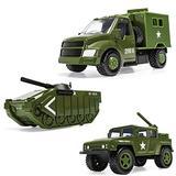Corgi Chunkies Military Army Green Rocket Truck, Armored Tank and Radar Truck Triple Pack Toy Vehicles CHP04