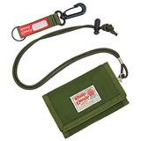 Rough Enough Kids Lanyard Wallet for Teens Boys Gifts for Teenage Girls Front Pocket Neck Wallet Trifold Card Wallet Coin Purse with Zipper Pocket Army Green