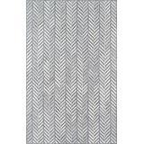 Momeni Cortland Wool Area Rug, 8' X 10', Grey