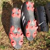 Nike Shoes   Kids Soccer Cleats And Shin Guards   Color: Black/Red   Size: 7.5m